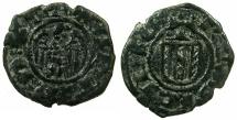 World Coins - ITALY.SICILY.Martin I AD 1402-1409.AE.Denaro.Mint of MESSINA.