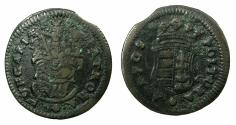 World Coins - HUNGARY.France II Rakoczi AD1703-1711.AE.Politura.1705.