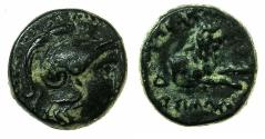 Ancient Coins - MACEDON.Kings of THRACE.Lysimachus 305-281 BC.AE.13.1mm.