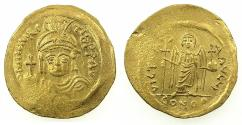 Ancient Coins - BYZANTINE EMPIRE.Maurice Tiberius AD 582-602.AV.Solidus.Mint of CONSTANTINOPLE.