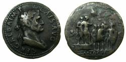 Ancient Coins - ROMAM.Galba AD 68-69.AE. 'Paduan 'Medallion Cast 'Sestertius' after Giovanni da Cavino ( AD 1500-1570 ). 17th or 18th cent aftercast.