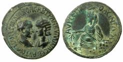 Ancient Coins - MESOPOTAMIA.SINGARA.Gordian III and Tranquillina AD 238-244.AE.32.5mm. Reverse. Tyche seated.