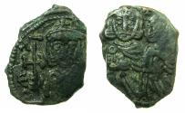 Ancient Coins - BYZANTINE EMPIRE.SICILY.Constantine V AD 741-775 with Leo IV associate ruler from AD 751-775.AE.Follis