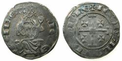 World Coins - CRUSADER STATES.CYPRUS.Hugh IV AD1324-1359.AR.Gros Grand. Obverse legend hUGUE with pierced crosses end.