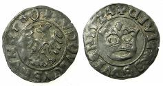 World Coins - SILESIA, under HUNGARY.Louis II of Hungary AD 1516-1526.AR.1/2 Groschen. 1524