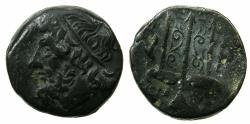 Ancient Coins - SICILY.Syracuse.Hieron II 274-216 BC.AE.18.5mm.