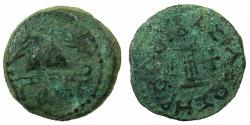 Ancient Coins - JUDAEA.Herod I The Great 40/37-4 BC.AE.8 Prutot, struck 38/7 BC.Mint of JERUSALEM.