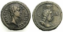 Ancient Coins - EGYPT.ALEXANDRIA.Nerva AD 96-98.Billon Tetradrachm, struck AD 96/97.~#~.Bust of Serapis.
