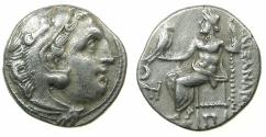 Ancient Coins - MACEDONIAN EMPIRE.Alexander III The Great 336-323.AR.Drachma, posthumus issue circa 310-301 BC.Mint of COLOPHON