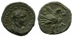Ancient Coins - EGYPT.ALEXANDRIA.Claudius II Gothicus AD 268-270. Billon Tetradrachm, struck AD 270/71. ~#~.Eagle on thunderblot.