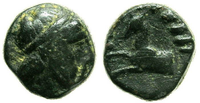 Ancient Coins - CYCLADES.Island of KEOS.2nd Cent BC.AE.15.Avistsaeos? Sirius.