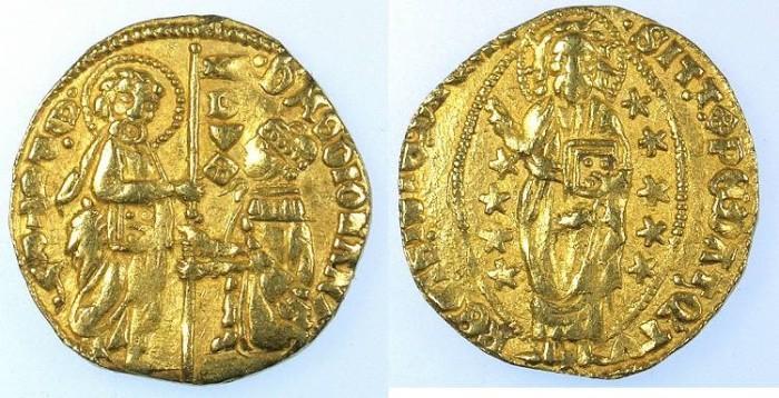 Ancient Coins - CRUSADER.Chios.Philip Maria Visconti Duke of Milan and doge of Genoa 1421-36.AV.Ducato 3.25g .