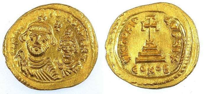 Ancient Coins - BYZANTINE EMPIRE.Heraclius AD 610-641.AR.Solidus.CYPRUS or JERUSALEM mint.