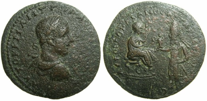 Ancient Coins - MESOPOTAMIA.EDESSA.Gordian III AD 238-244 and King Abgar X Phrahates AD 242-244.AE.33mm. ~~~~Ex Lord Grantely and Duke of Argll ~~~