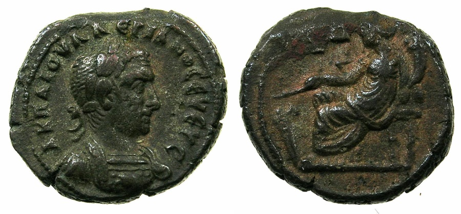 Ancient Coins - EGYPT.ALEXANDRIA.Valerian I ( The elder ) AD 253-260.Billon Tetradrachm Struck AD 256/57.