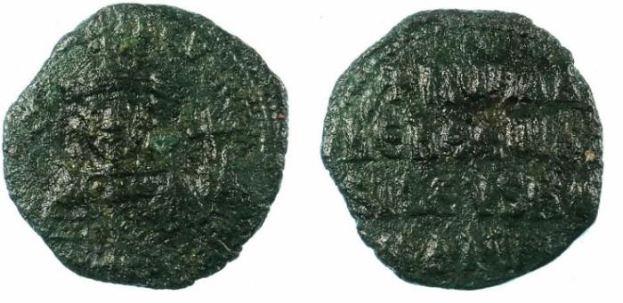 Ancient Coins - BYZANTINE EMPIRE.Romanus I AD 920-944.AE.Follis.Constantinople mint