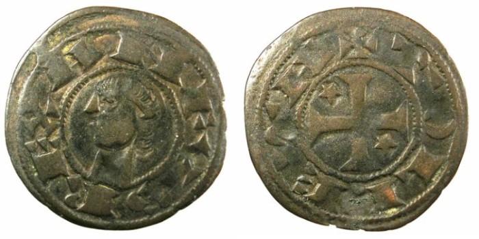Ancient Coins - SPAIN.CASTILLE AND LEON.Alfonso I of Aragon AD 1104-1134.Bi.Denaro.Mint of Toledo