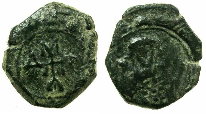 Ancient Coins - BYZANTINE EMPIRE.Manuel I AD 1143-1180.AE.Half Tetarteron.Uncertain Greek mint.