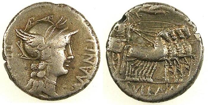 Ancient Coins - ROME.Republic. L. Cornelius Sulla & L. Manlius Torquatus 82BC.AR.Denarius.