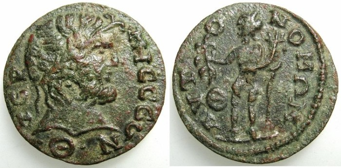 Ancient Coins - PISIDIA.Termessus Major.3rd to 4th Cent AD.AE.25.6mm.~~~Zeus.~#~Genius.