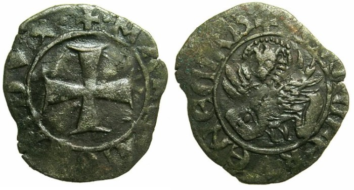 Ancient Coins - CRUSADER.GREECE under VENICE.Marco Corner  AD 1365-1368.Bi.Tornesello