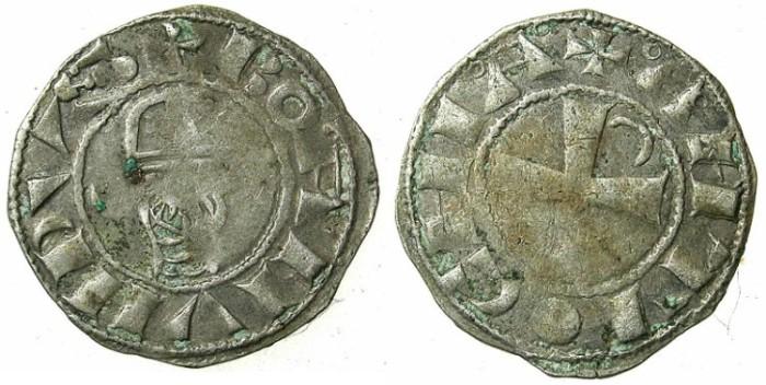 Ancient Coins - CRUSADER.Antioch.Bohemond III or IV c.1149-1233.Bi.Denier.Class A2