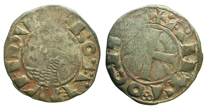 Ancient Coins - CRUSADER . Antioch. Bohemond III or IV c.1149-1233 Bi.Denier Class E.