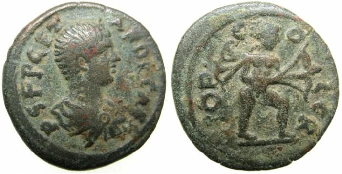 Ancient Coins - PISIDIA.CREMNA.Geta Caesar AD 198-211.AE.20.Apollo drawing bow