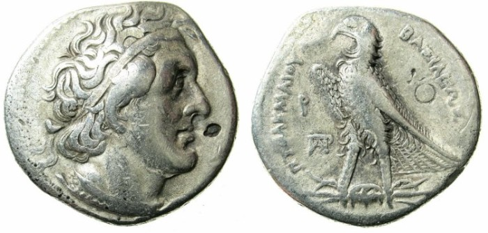 Ancient Coins - PTOLEMAIC EMPIRE.EGYPT.Ptolemy I Soter C.323-283 BC.AR.Tetradrachm.Mint of ALEXANDRIA.
