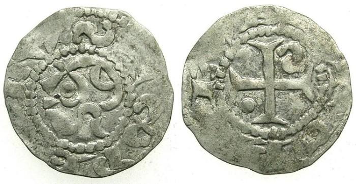 Ancient Coins - SWITZERLAND.GENEVA.Bishopric.Anoymous 12th Cent AD.Bi.Denier.Saint Paul.Cross.