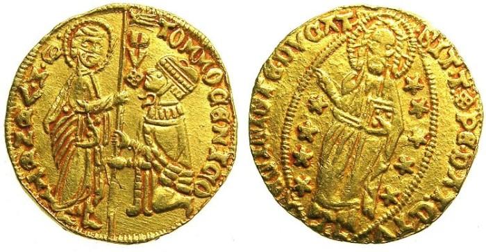Ancient Coins - ITALY.VENICE.Tomasso Mocenigo AD 1414-1423.AV.Ducat.