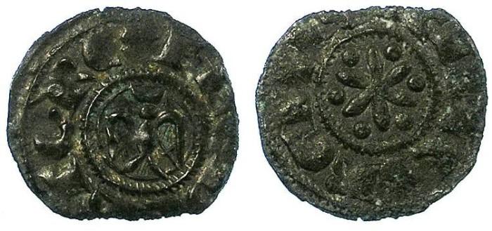 Ancient Coins - ITALY.SICILY.Federico II,king of Sicily AD 1197-1250.Bi.Denaro.