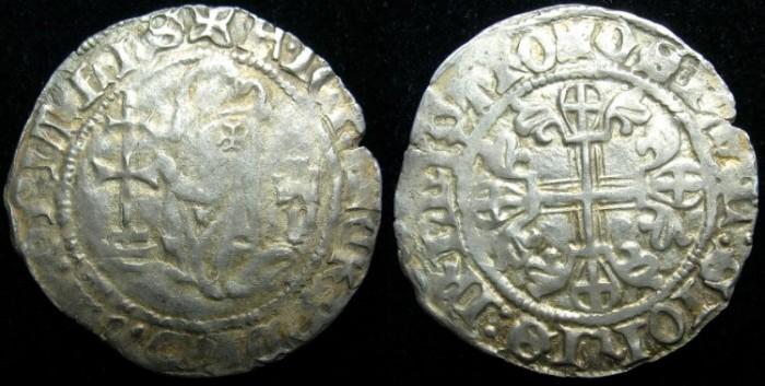 Ancient Coins - CRUSADER.RHODES.Jean Fernandez de Heredia AD 1376-1396.AR.Gigliato.