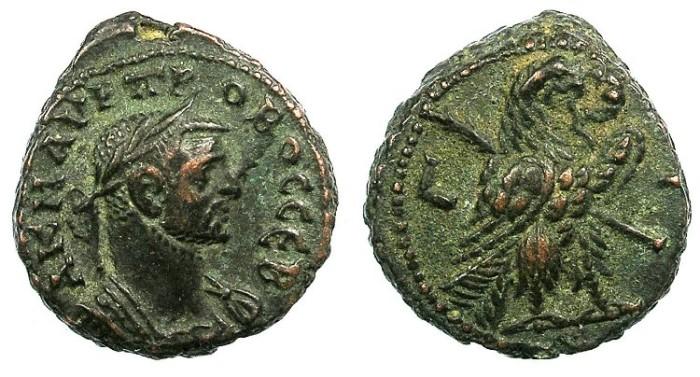 Ancient Coins - EGYPT ALEXANDRIA.Probus AD 276-282.Bi.Tetradrachma.Eagle right