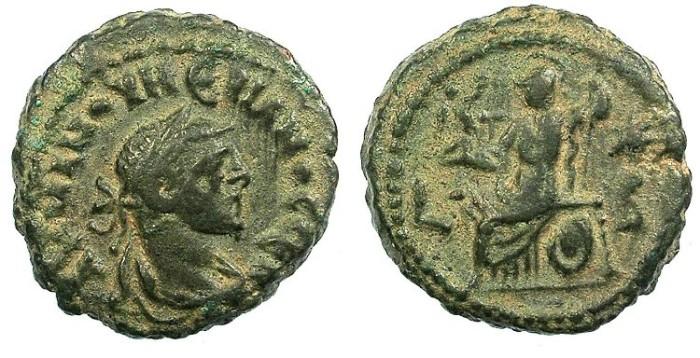 Ancient Coins - EGYPT ALEXANDRIA.Numerian AD 283-285.Bi.Tetradrachma.Roma seated.