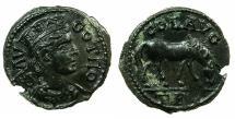 Ancient Coins - TROAS.ALEXANDRIA TROAS.Pseudo Autonomous issue, Mid 3d cent AD.AE.21.9mm.~Tyche.~#~.Horse grazing.