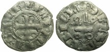 World Coins - CRUSADERSTATES.GREECE.Principality of ACHAIA.Mahault of Hainault AD 1316-1321.Bi.Denier.Type MA1c.