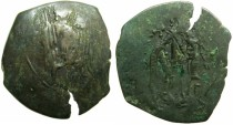 Ancient Coins - BYZANTINE EMPIRE.Michael VIII AD 1258/9-1282.AE.Trachy.Class XXVI~#~.The Archangel Michael.