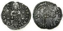 World Coins - ITALY.VENICE.Antonio Venier AD1382-1400.AR.Grosso.3rd Type.
