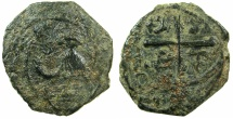 World Coins - CRUSADER STATES.ANTIOCH.Tancred AD 1104-1112.AE.Follis, 3rd Type.~~~Standing figure of Saint Peter.