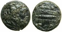 Ancient Coins - MACEDON.Philip V 220-179 BC.AE.23.5mm.Bearded Herakles wearing lion scalp.~#~.Harpa.*****Exceptional portrait of Herakles.