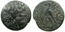 Ancient Coins - PTOLEMAIC EMPIRE.CYPRUS.Ptolemy IV Philopator 221-205 BC.AE.25mm.Lotus bud