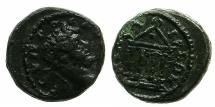 Ancient Coins - BITHYNIA.NICAEA.Septimius Severus AD 193-211.AE.17.5mm.~#~.Tetrastyle temple.