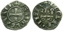 World Coins - CRUSADER STATES.Principality of ACHAIA.Isabella of Villehardouin AD 1289-1297.Bi.Denier.Type Y2