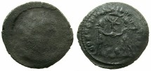 Ancient Coins - ROMAN.4th cent AD.AE.Follis, mistrike.