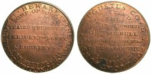 World Coins - ENGLAND.LONDON.Augustus Cove.Token/Medallet circa 1812.Grand Junction canal.RED UNCIRCULATED.****Extremely rare*****