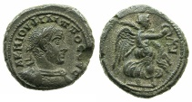 Ancient Coins - EGYPT.ALEXANDRIA.Philip I The Arab AD 244-249.Billon Tetradrachm, struck AD 248/249.~#~.Nike flying left.