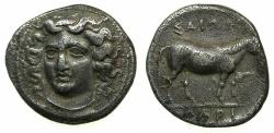 Ancient Coins - THESSALY.LARISSA. Circa 380-365 BC.AR.Drachma.