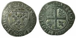 World Coins - FRANCE.Charles VI AD 1382-1422.AR.Blanc.