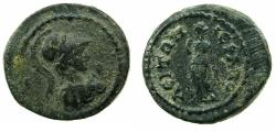 Ancient Coins - PHRYGIA.HIERAPOLIS.Pseudo-Autonomou issue.2nd -3rd cent AD. AE. Reverse.Nemessis standing.